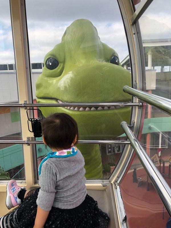 BIG HOPの観覧車から見える恐竜アップ
