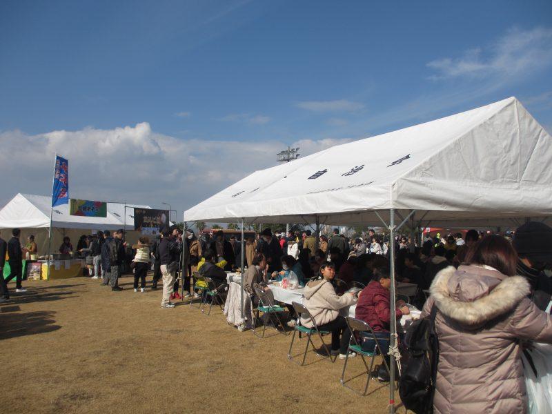 自治会のテント