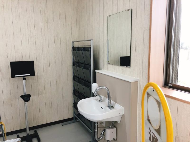 管理事務所内の手洗い場